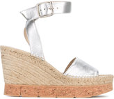 Paloma Barceló wedge sandals - women - Cork/Raffia/Leather/rubber - 40