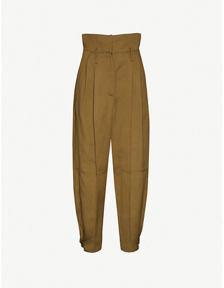 Givenchy Tapered-leg high-rise woven trousers