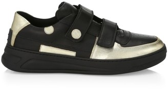 Acne Studios Metallic Double Strap Sneakers