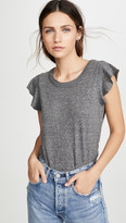 Chaser Flutter Sleeve Shirttail Tee