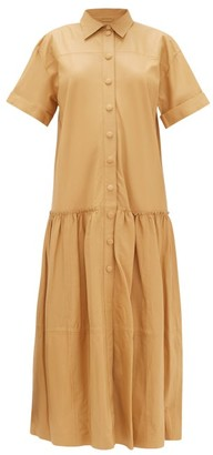 Stand Studio Lauren Drop-waist Leather Dress - Camel