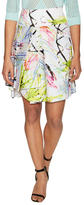 Milly Scribble Cotton Print Asymmetrical Flare Skirt