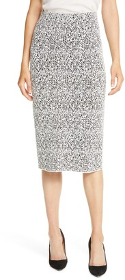 HUGO BOSS Fucille Knit Midi Pencil Skirt
