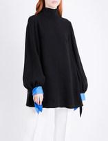 Roksanda Nivala contrast-cuffs silk top