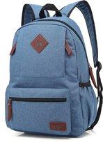 Mn&Sue Unisex Heritage Waterproof Canvas School Backpack Travel Luggage Daypack
