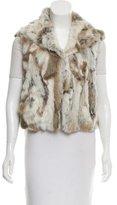 Adrienne Landau Printed Fur Vest