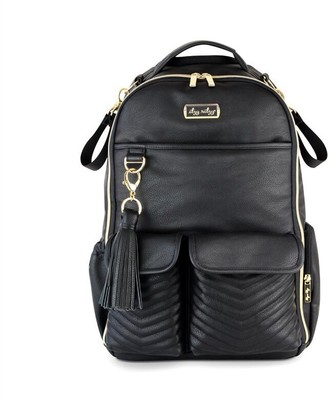 Itzy Ritzy Boss Backpack Diaper Bag Rock and Roll Black with Gold Studs