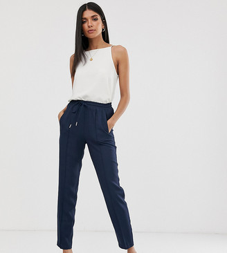Y.A.S Tall relaxed trousers-Navy