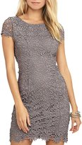 Glamaker Women's Lace Backless Dress Short Bodycon Pencil Dress with Sleeves