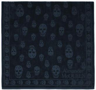 Alexander McQueen Navy Skull Towel
