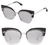 Women's Perverse Nordic Cat Eye Sunglasses - Black/ Silver