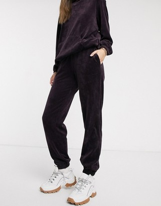 Nike burgundy cord loose fit joggers