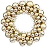"Vickerman 12"" Ball Wreath, Gold"