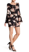 Romeo & Juliet Couture Floral Bell Sleeve Mini Dress
