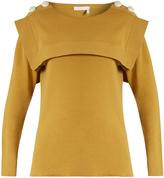 Chloé Sailor-collar buttoned-shouder cotton sweater