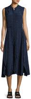 Public School Casside Sleeveless Jacquard Midi Dress, Blue