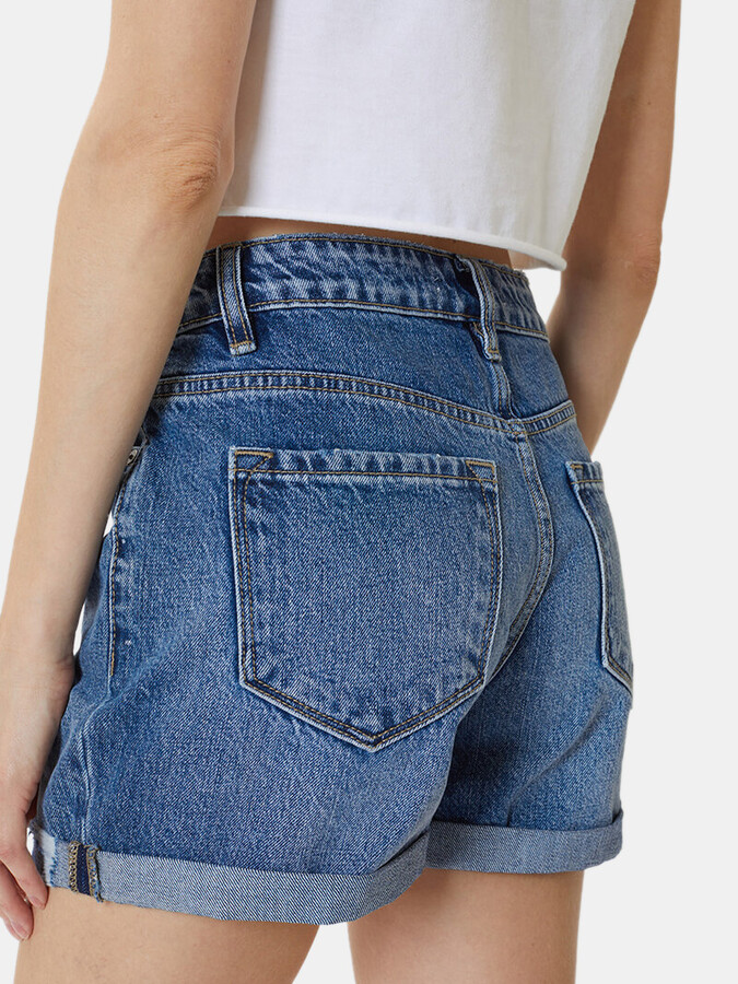 Thumbnail for your product : Kancan Hazel High Rise Cuffed Shorts