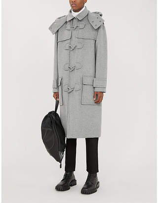 Valentino Hooded wool-blend coat