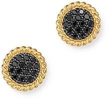Bloomingdale's Black Diamond Disc Earrings in 14K Yellow Gold, 0.27 ct. t.w. - 100% Exclusive