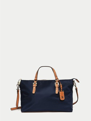 Tommy Hilfiger Solid Zipper Shopping Tote
