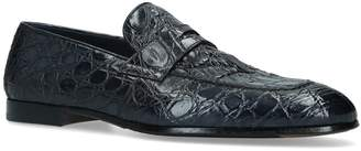 Doucal's Crocodile Leather Loafers