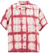story. Mfg. - Bowling Moon Tie-dye Organic-cotton Shirt - Womens - Pink White