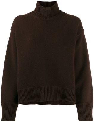 Parker Chinti & cashmere roll-neck knitted jumper