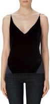 J Brand Women's 'Lucy' Velvet Front Camisole