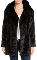 Vince Camuto Women's Hooded Faux Fur Coat