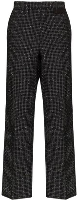 Stud Detail High-Waisted Trousers