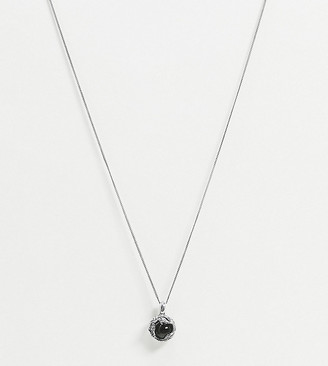 Reclaimed Vintage inspired sterling silver neckchain with sacred ball pendant exclusive to ASOS