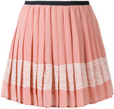 RED Valentino embellished crepe mini skirt - women - Polyester - 38