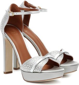 Malone Souliers Miranda 125 satin platform sandals