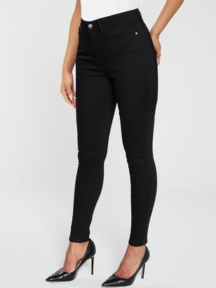 Very Short Florence High Rise Skinny Jeans - Black