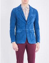 Etro Single-breasted suede jacket