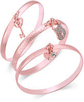 INC International Concepts Rose Gold-Tone 3-Pc. Set Pavé Charm Bangle Bracelets, Only at Macy's