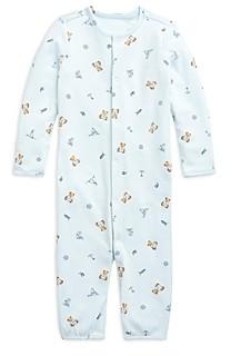Ralph Lauren Polo Boys' Bear Print Convertible Coverall Gown - Baby