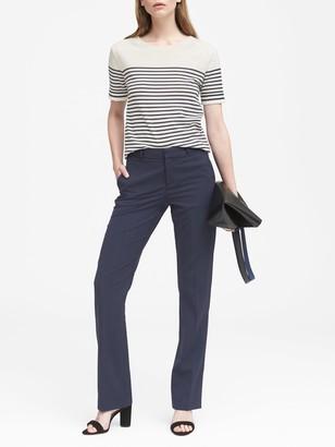 Banana Republic Petite Logan Trouser-Fit Washable Italian Wool-Blend Pant