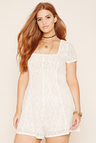 Forever 21 FOREVER 21+ Plus Size Lace Romper