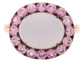 Rosa De La Cruz - Sapphire, Chalcedony & 18kt Rose-gold Ring - Pink Multi