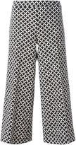 MICHAEL Michael Kors cropped palazzo pants - women - Polyester/Spandex/Elastane - 4