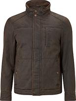 John Lewis Wax Faux Shortie Jacket, Brown
