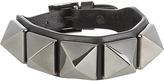 Valentino Rockstud large leather bracelet