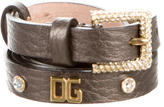 Dolce & Gabbana Logo-Embellished Leather Belt