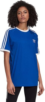 adidas 3-Stripes Tee (Team Royal Blue/White) Women's T Shirt