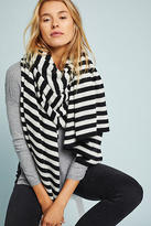 White + Warren Striped Cashmere Wrap Scarf