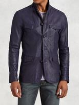 John Varvatos Leather Officer's Jacket