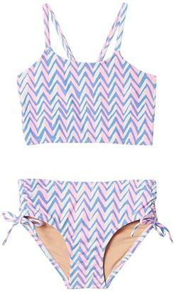 crewcuts by J.Crew Leila Tankini (Toddler/Little Kids/Big Kids) (Pink Peri) Girl's Swimwear Sets