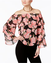 INC International Concepts Floral-Print Off-The-Shoulder Top, Only at Macy's