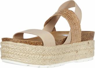 Steve Madden Circa1 Wedge Sandal Natural Multi 9